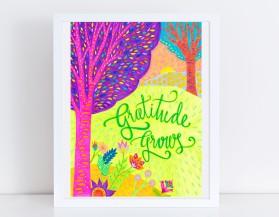 gratitude grows framed